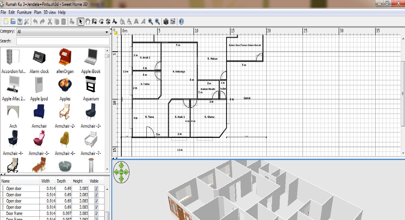 Software Untuk Desain Rumah 3D